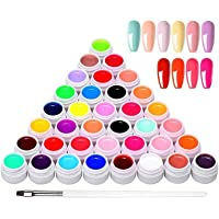 36 kleuren UV-kleurengel, UV-gel-set gelkleuren voor nagels, nail art-kleurengel-set, gelnagels kleuren, nagellak…