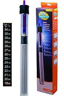 BPS (R) Calentador Sumergible para Pecera 300W - 37cm con Un Termómetro Digital Adhesivo
