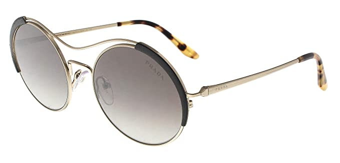 Prada 0PR 55VS, Gafas de sol para Mujer, Pale Gold/Black 53 ...