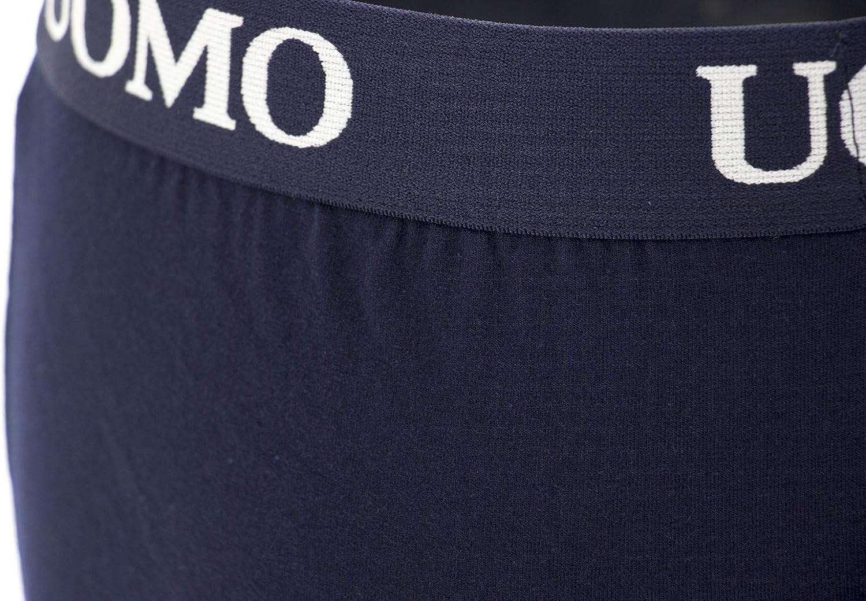 Poligono Boxer Uomo Slip Mutande Intimo Cotone Elastico Colori Assortit