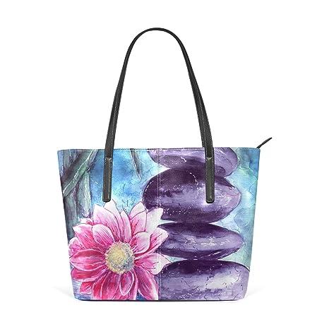 2008d95a1ade COOSUN Lotus e pietre in PU Acqua Leather Shoulder bag borsa e borse Tote  Bag per