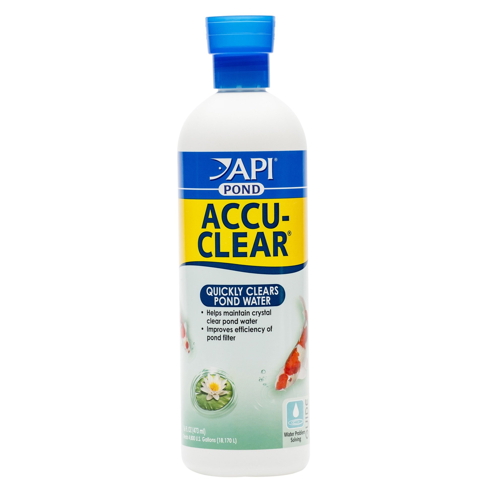 API POND ACCU-CLEAR Pond Water Clarifier 16-Ounce Bottle by API