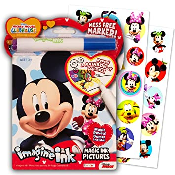 disney mickey mouse clubhouse imagine ink coloring book and sticker pack set includes mess free - Magic Ink Coloring Books