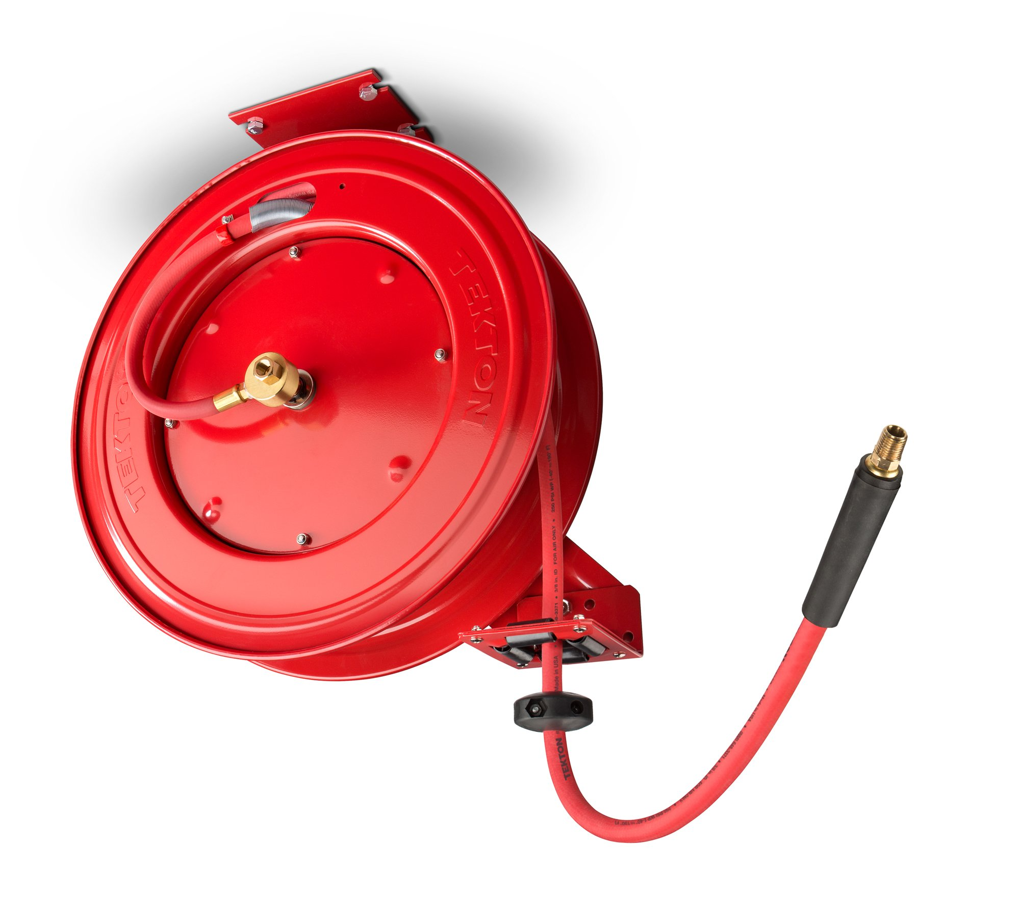 TEKTON 50-Foot x 3/8-Inch I.D. Auto Rewind Air Hose Reel (250 PSI) | 46845