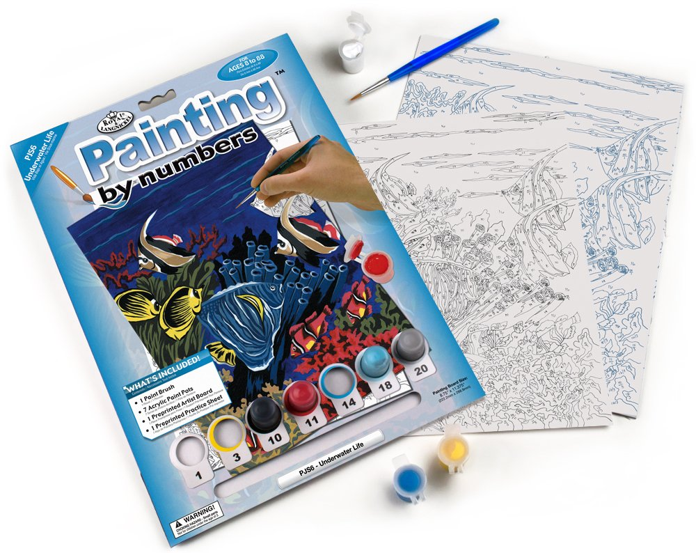 Royal & Langnickel PJS24 Painting by Numbers Junior Small Art Activity Kit, Dolphins