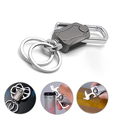 Decent Carabiner Spinner Keychain Quality Beer Bottle Opener Multifunction Tool