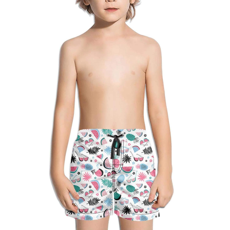XULANG Kids Boys Girls Watermelon Pineapple Board Shorts Swim Street Swimwear Breathable Boardshorts