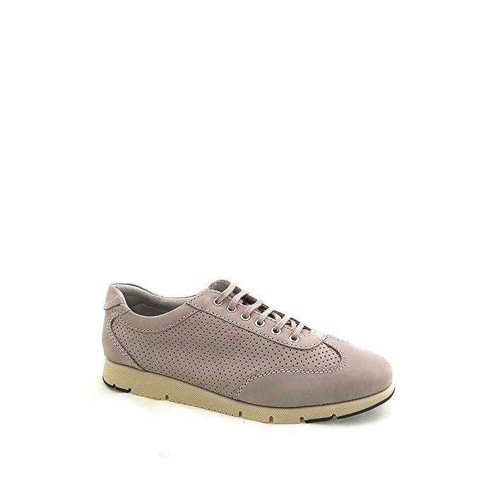 FRAU 51G3 taupe scarpe donna sneakers pelle forato lacci nabuk 40 Aaa1DbOO