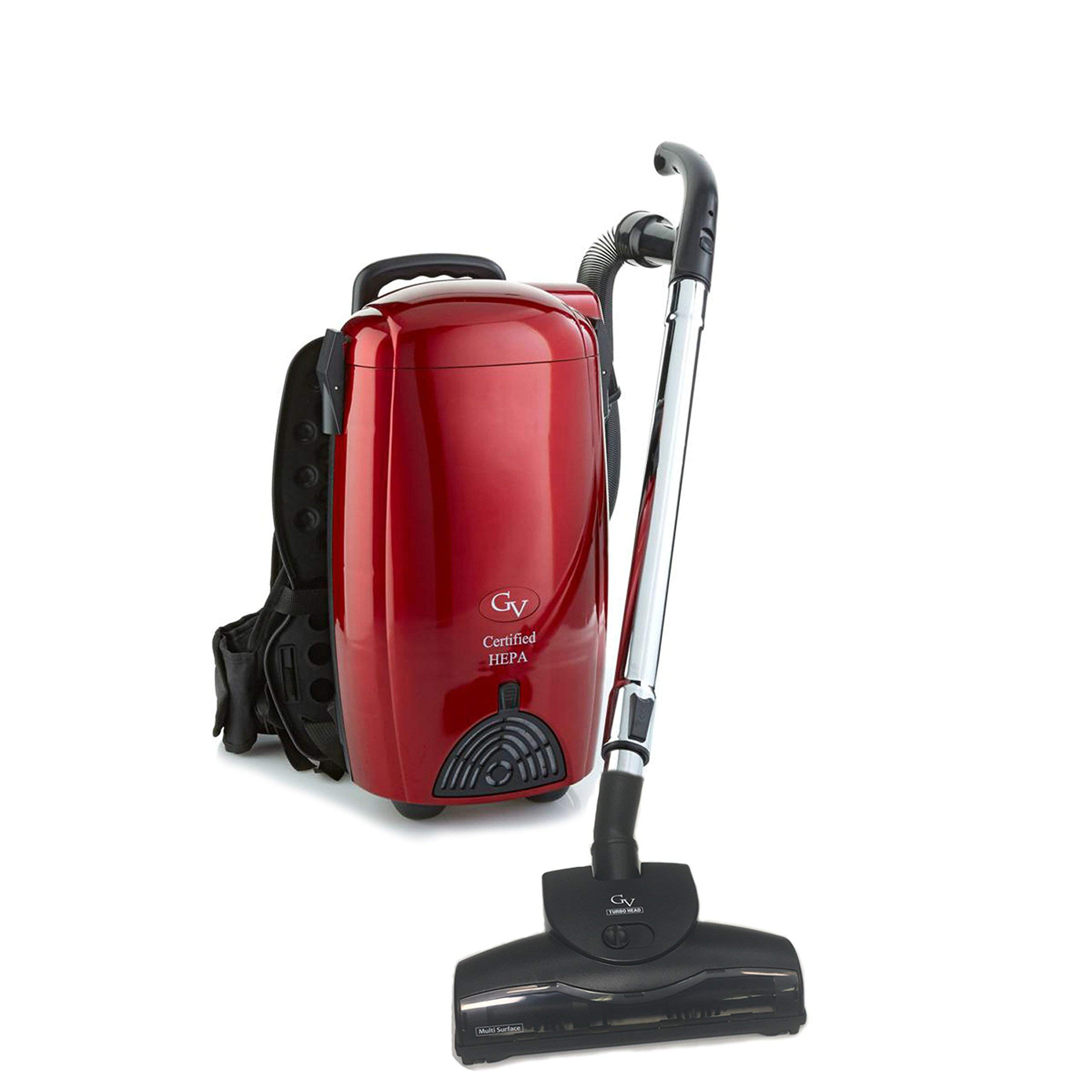 GV 8 Qt Light Powerful Backpack Vacuum Loaded (Renewed) by GV
