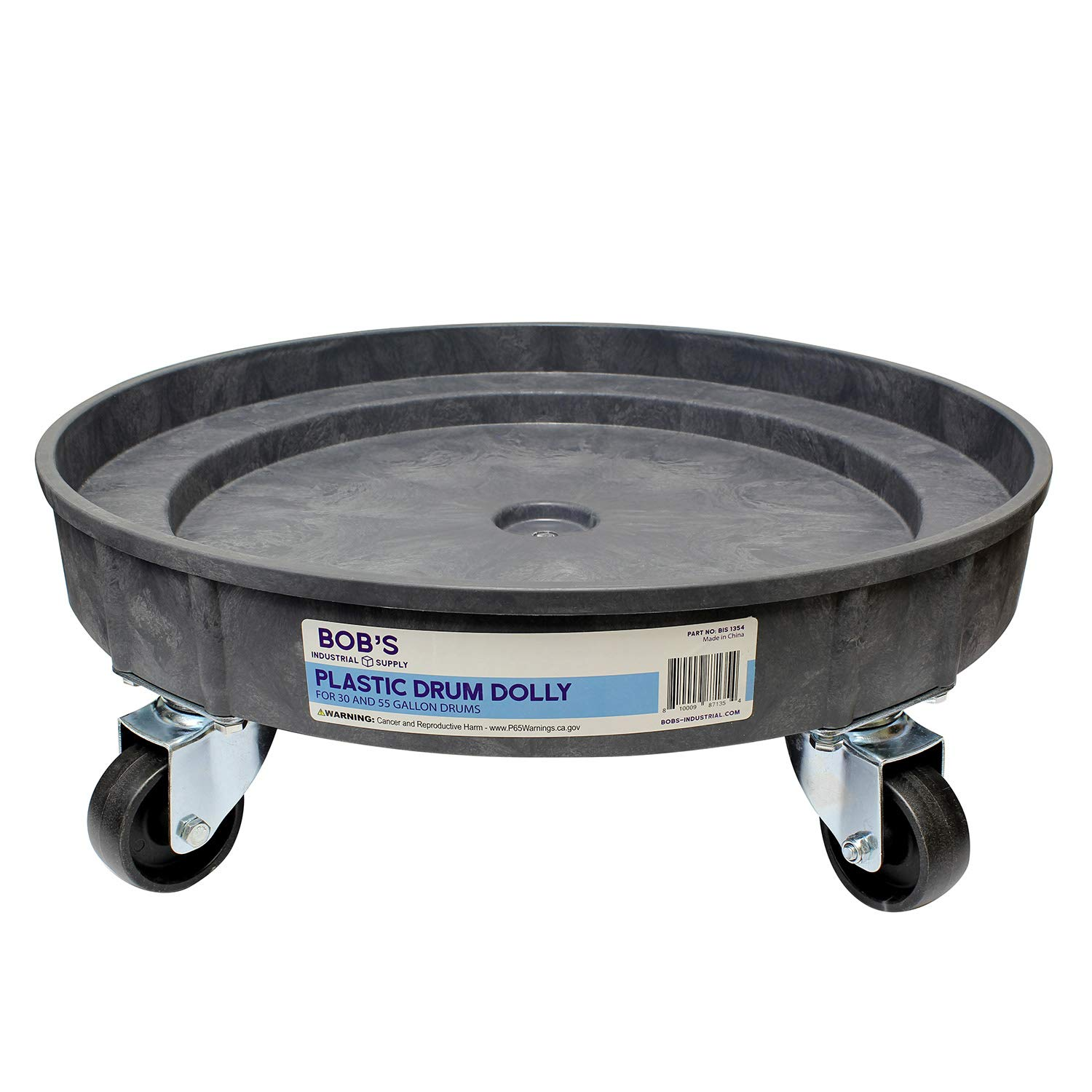 BISupply | Plastic 30 55 Gal Drum Dolly Barrel Cart Barrel Dolly for 55 Gallon Drum Dolly 55 Gallon 30 Gallon Drum Dolly by BISupply (Image #2)