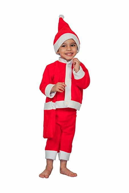 Christmas Fancy Dress Kids.Shopluvonline Santa Claus Christmas Fancy Dress Costume For Boy Girl Kids For Xmas Party Or Cosplay 5 6 Years