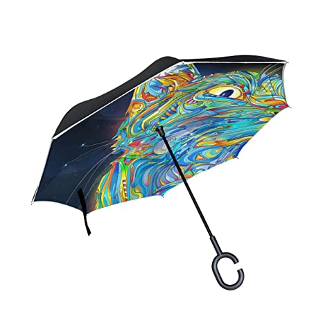 jstel doble capa diseño abstracto gato paraguas coches Reverse ...