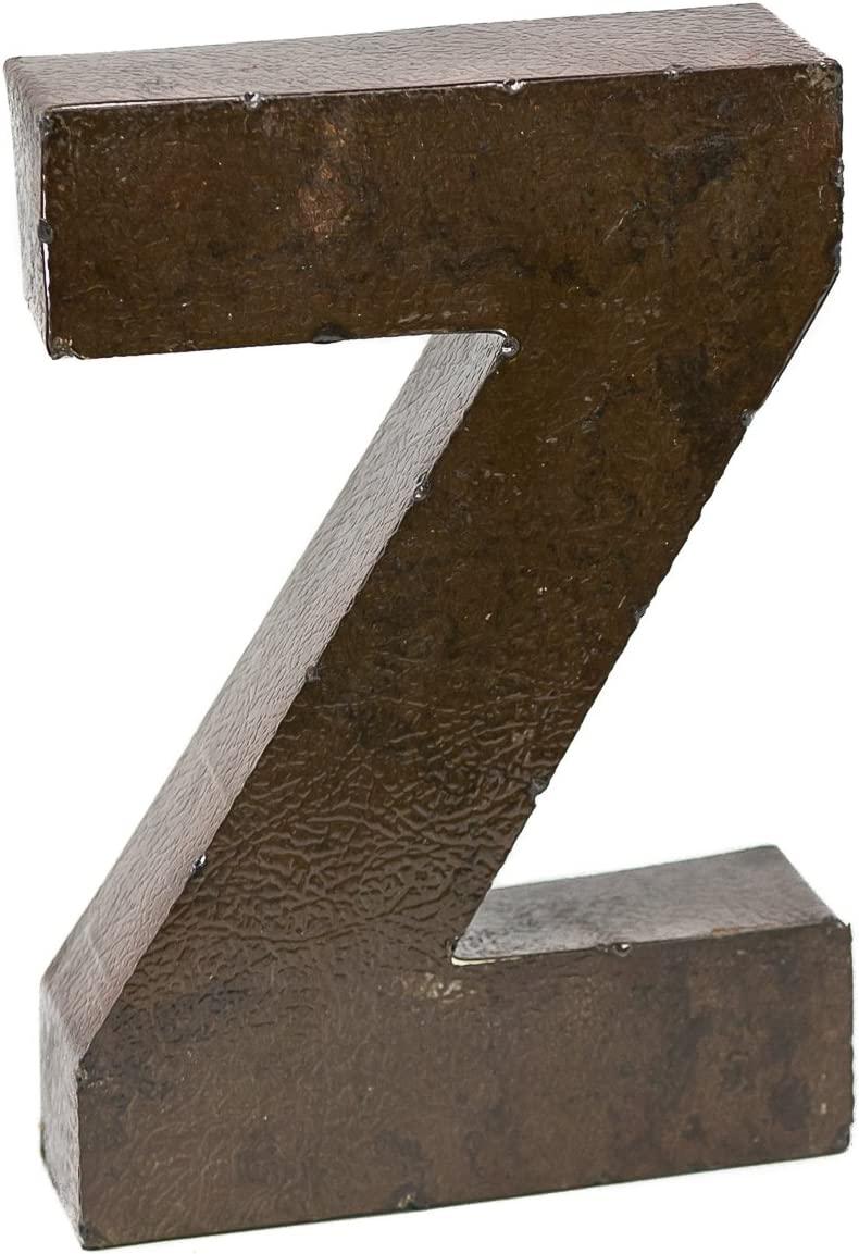 Rustic Arrow Letter Z for Decor, 9-Inch, Brown