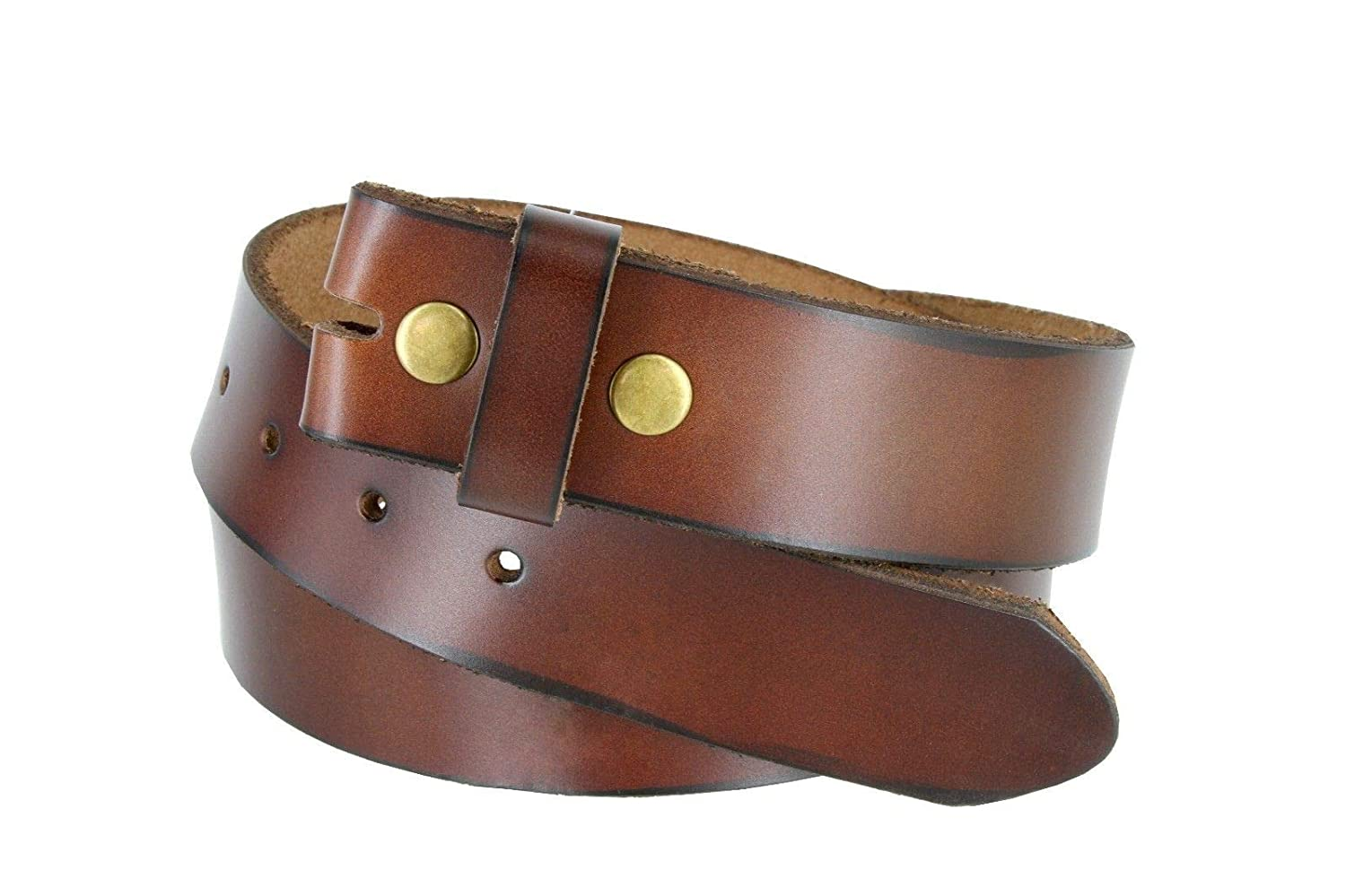 Genuine Leather Belt Strap Casual Belt Snap 1-1//2 Wide BSC