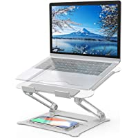 $25 » Adjustable Laptop Stand, FYSMY Ergonomic Portable Computer Stand with Heat-Vent to…