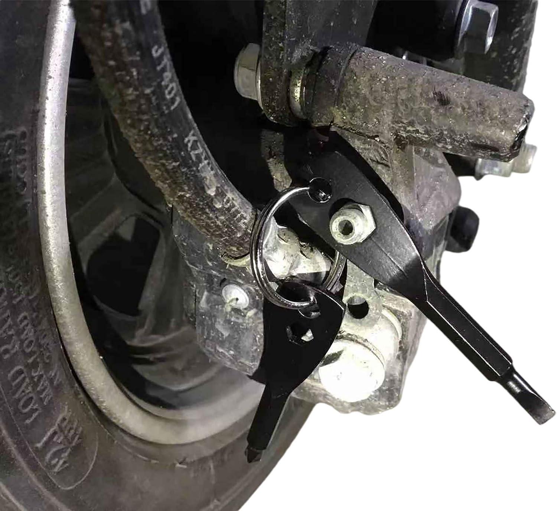 Nut Driver Repair Hand Tool Pocket Screwdrivers BINGHUI Portable Screwdriver Keychain Flathead and Phillips Key Screwdriver Tool Set(Black)