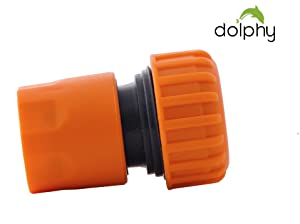 Dolphy 1/2 Inch Plastic Garden Water Hose Pipe Quick Connector