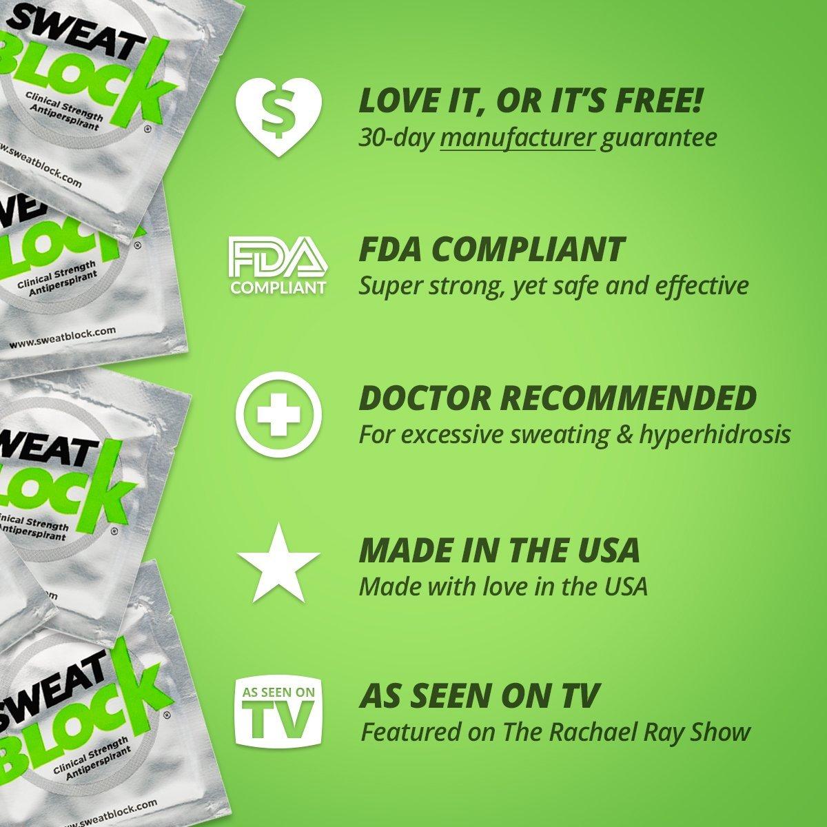 SweatBlock Antiperspirant - Clinical Strength - Reduce Sweat up to 7-days per Use by SweatBlock (Image #9)