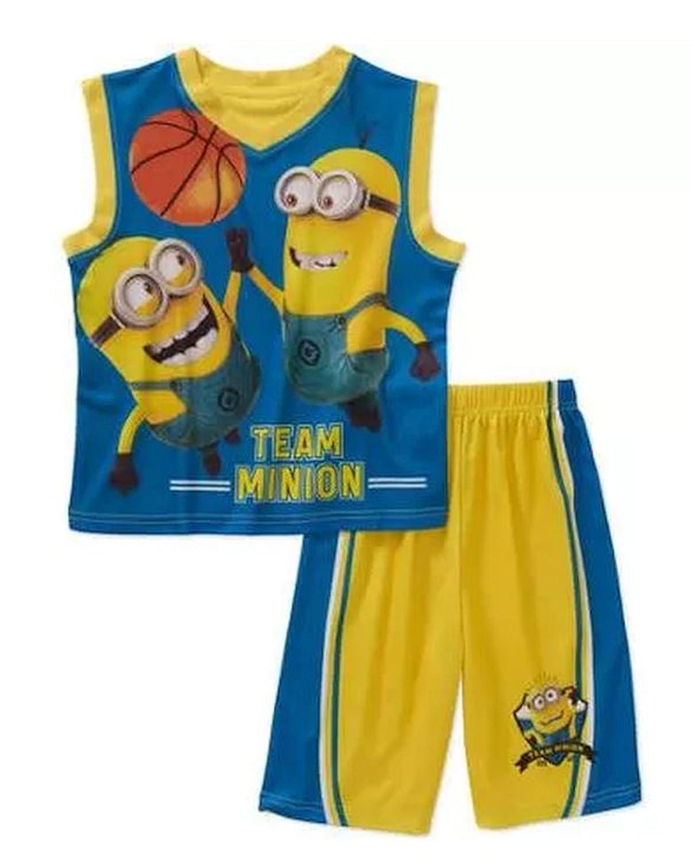 Team Minion Basketball Little /& Big Boys 2 Piece Tank /& Shorts Pajama Set