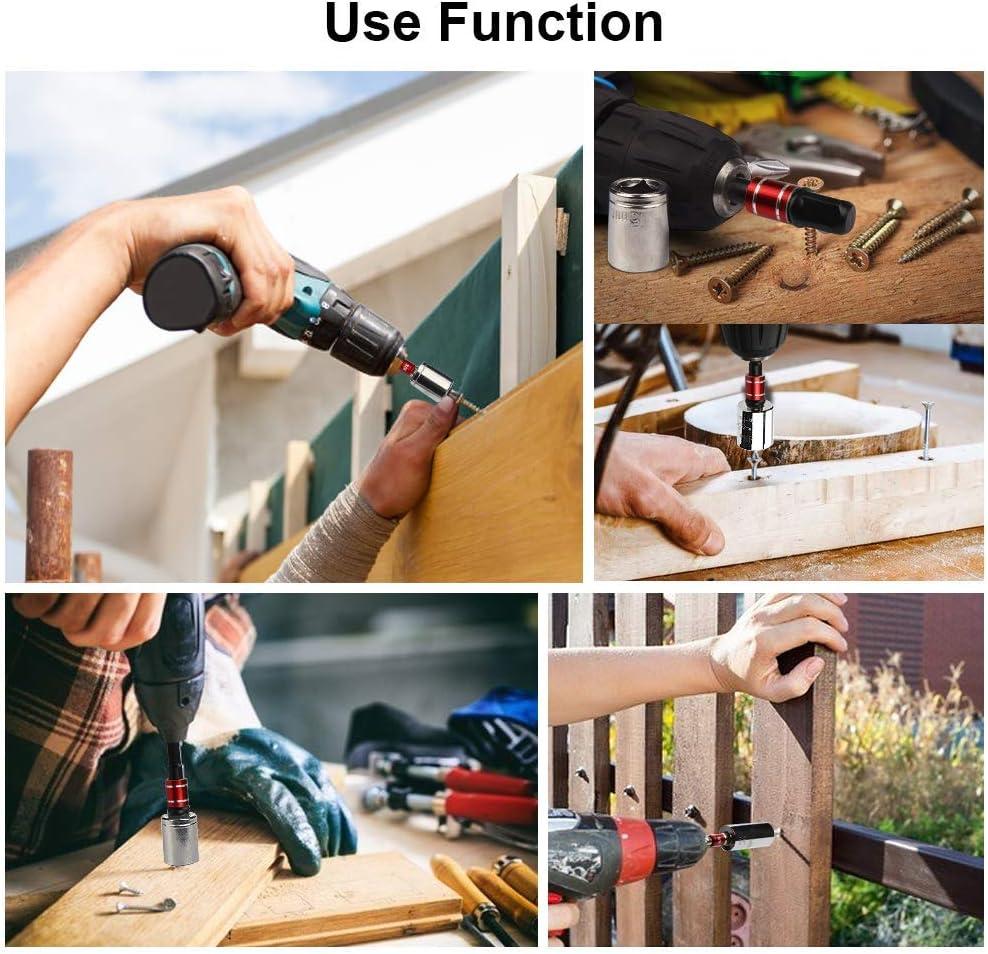 Impact Grade Socket Wrench Adapter Extension Set,3Pcs Hex Socket Adapter Bit+105/° Right Angle Drill Attachment Bit Extension 1//4-inch Hex Drive Drill Bit Power Socket Screwdriver Set Holder Adaptor