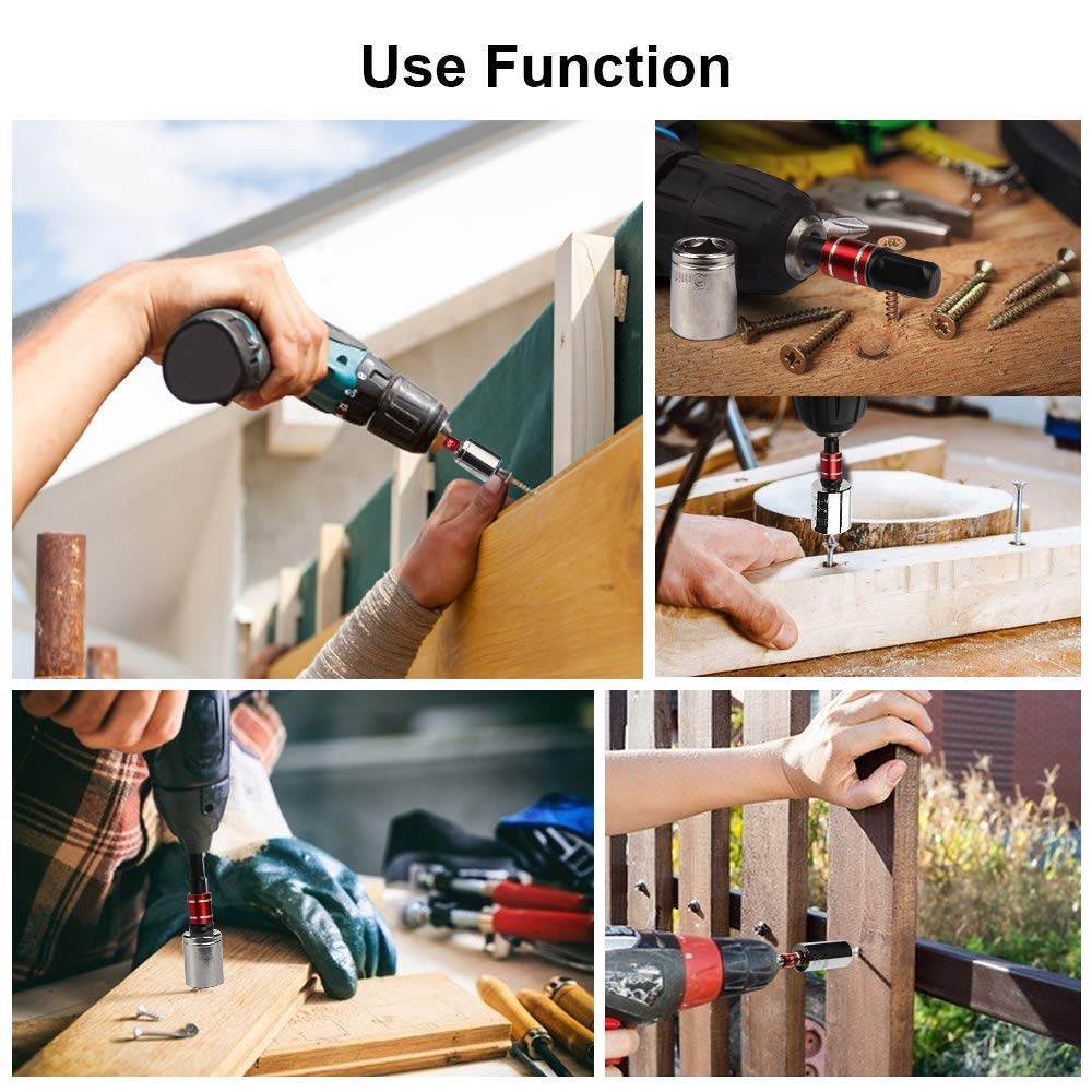 1//4 Cr-V,for Adapters to Use with Drill Chucks and 1//2 Drive 3//8 NoYI-3PCS Impact Socket Adapter//Extension Set Turns Power Drill Into High Speed Nut Driver