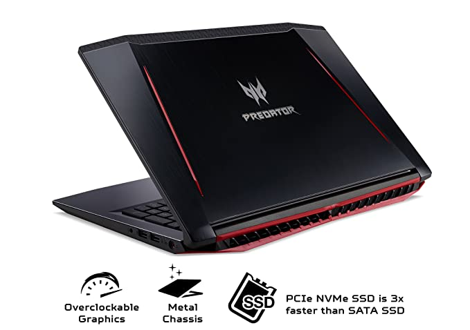 Acer Predator Helios 300 Gaming Laptop, 15.6 Full HD IPS Pantalla W/144 Hz Refresh Rate, 6-core Intel i7 - 8750h, GeForce GTX 1060 6 GB overclockable ...