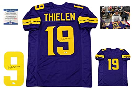 new styles bbf5f 6c171 Adam Thielen Autographed Signed Jersey - Color Rush - Beckett Authentic
