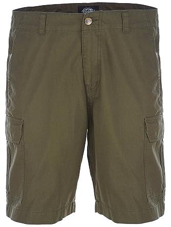 Dickies Herren Shorts Whelen Springs, Grün (Dark Olive), One size  (Herstellergröße