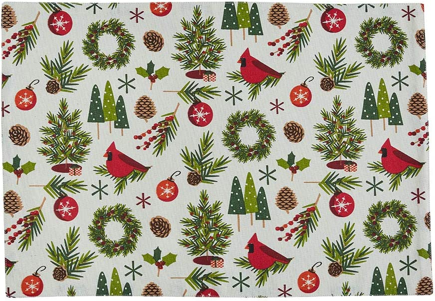 Park Designs Christmas Greenery Placemat - Set of 4