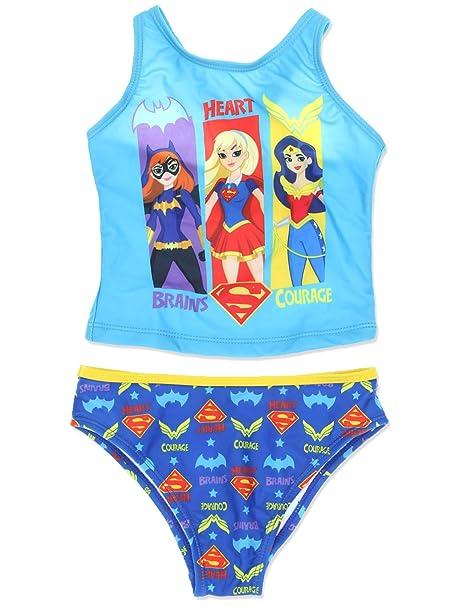 DC Super Hero Girls Swimwear Swimsuit (Little Kid/Big Kid)