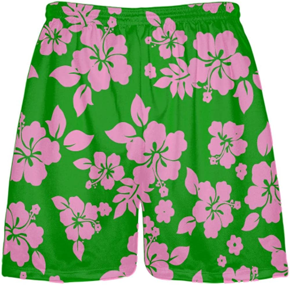 Pink Youth Girls Pink with Pink Camouflage Side Lacrosse Shorts Youth