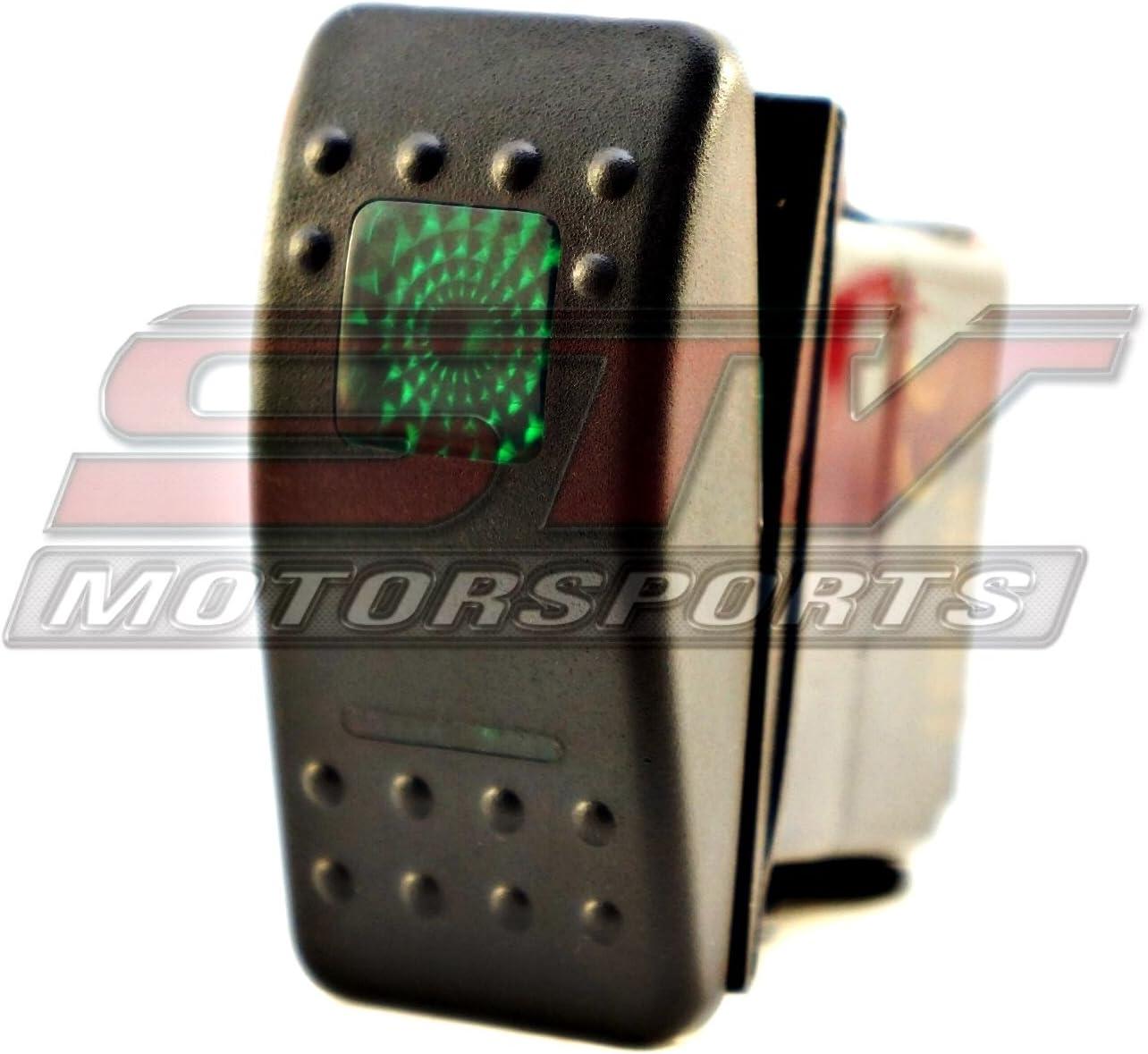 Blue Rocker Switch 3 Position 6 Pin Led Light 20 amp 12 volt UTV Boat Truck SXS