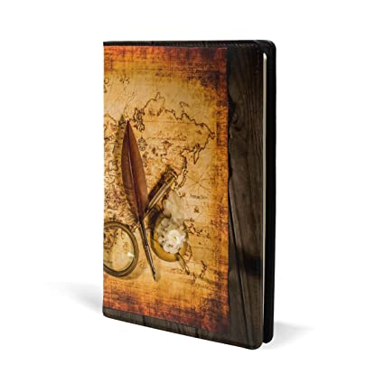 Amazon vintage old world map book covers fits most hardcover vintage old world map book covers fits most hardcover textbooks up to 87x5 gumiabroncs Choice Image