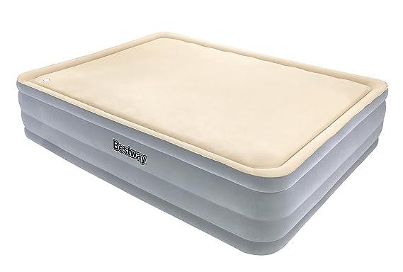 Bestway 67486 - Cama doble Hinchable Raised Foamtop Comfort (203 x ...
