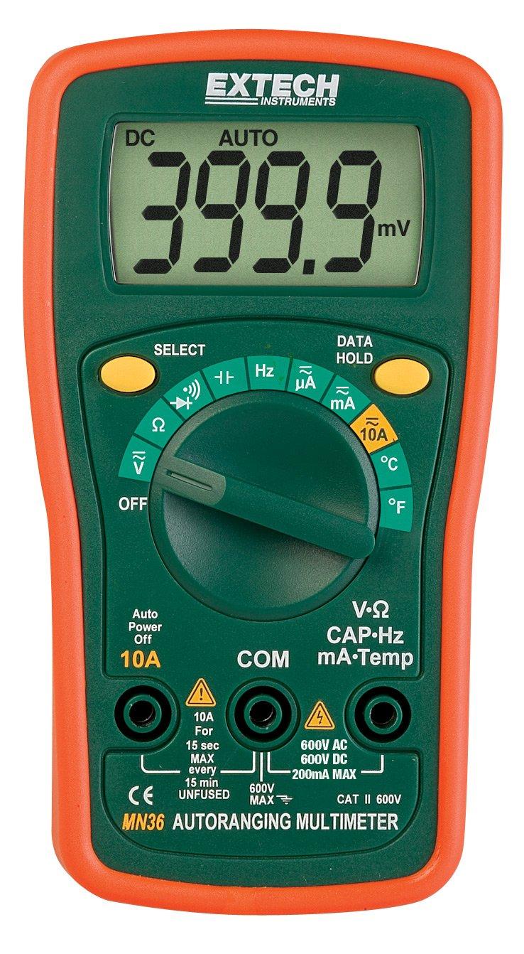 Extech Mn35 Digital Mini Multimeter Multi Testers Voltmeter Cr7 Green