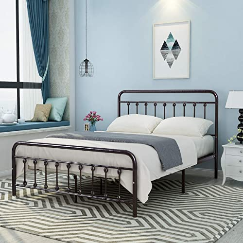 DUMEE Metal Bed Frame Queen Size Platform