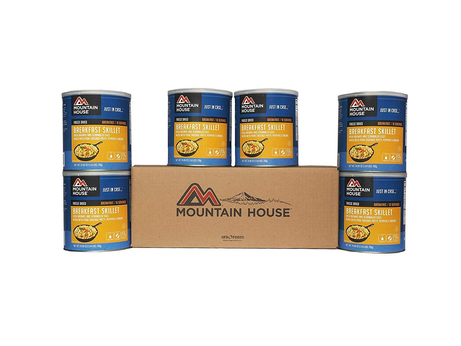Mountain House Breakfast Skillet 6 Pack Cans - Six #10 Cans conveniently Packaged in one Easy-to-Store Box. Perfect for Emergency Food Storage or Survival Food. by Mountain House (Image #1)