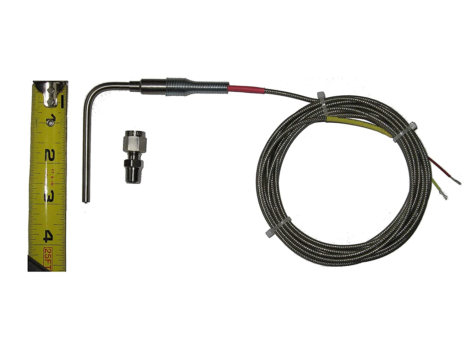 M10 Fitting 6 ft Cable EGT Probe with Longer Exposed Tip