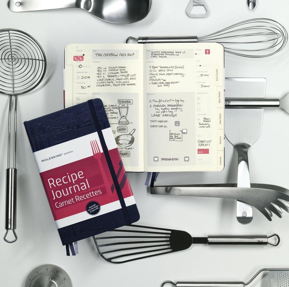 Moleskine Passion Journal - Recipe, Large, Hard Cover (5 x 8.25 ...