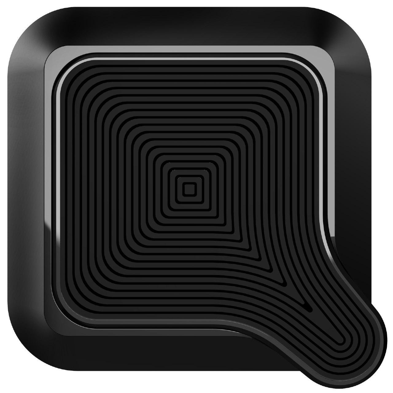QLYX Universal Air Vent Magnetic Smart Car Phone Mount Holder Adhesive Phone Cradle Black