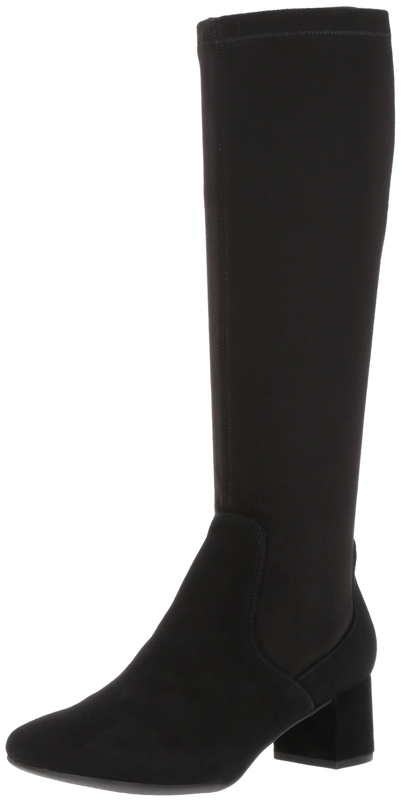 Clarks Women's Tealia Cup Riding Boot, Black Suede, 8.5 M US by CLARKS