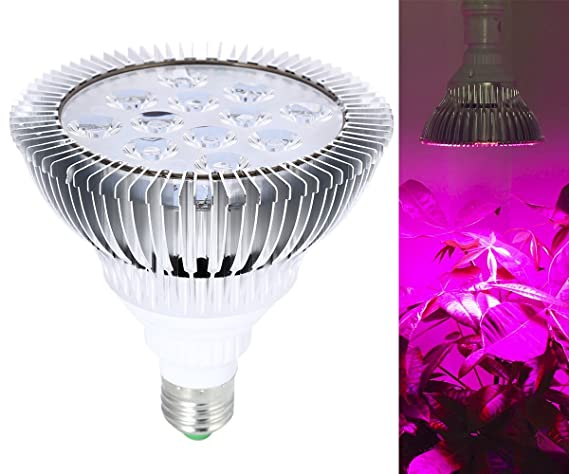 Lampara Bombillas LED E27 12W Grow Light para Cultivo Plantas - Rojo (620nm) y