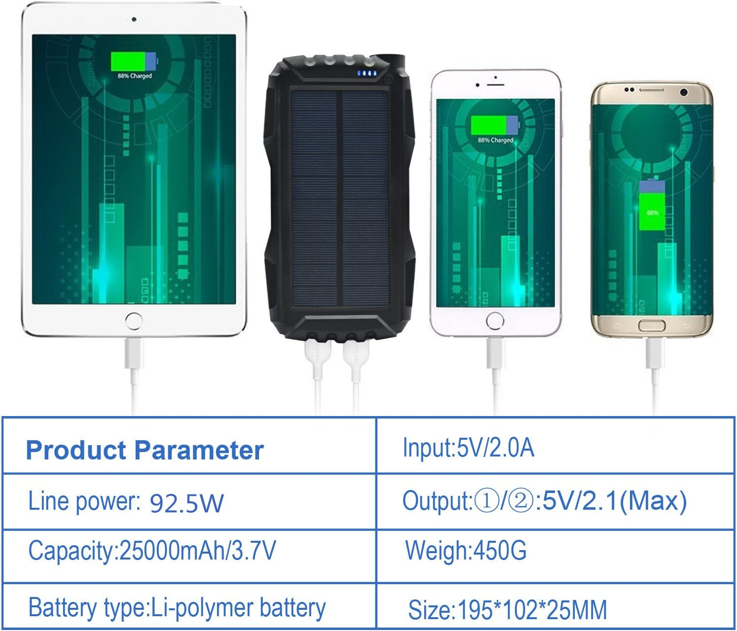 Cell Phones & Accessories Solar Chargers Solar Charger Kiizon ...