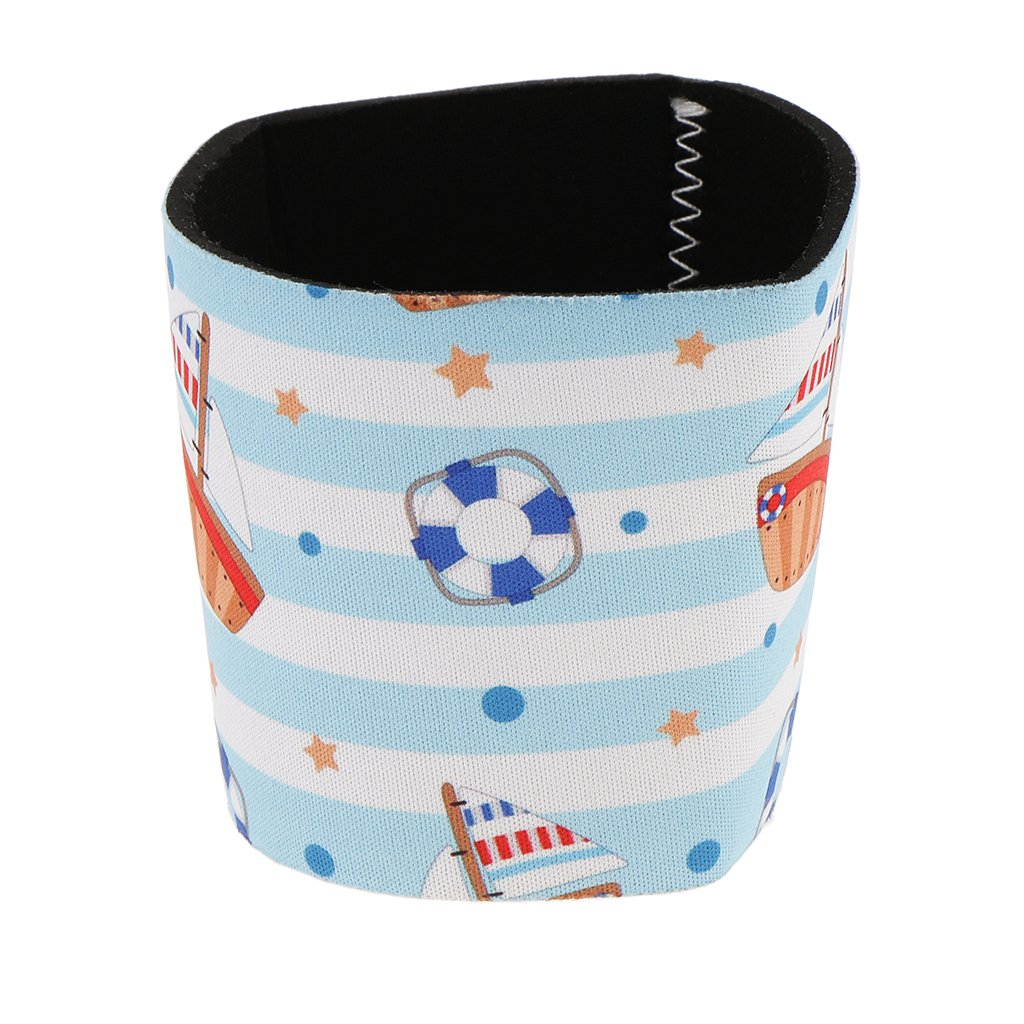 Homyl Cute Printed Reusable Neoprene Coffee Cup Sleeve Cozy Insulted Hot Cup Holder - Puppy Prints