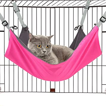 tacobear cat hammock bed hanging pad pet cat cage soft bed for rabbit ferret dogs or amazon     tacobear cat hammock bed hanging pad pet cat cage      rh   amazon
