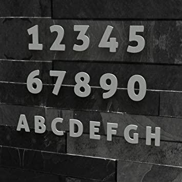 Hausnummer Modern colours manufaktur hausnummer modern 0 9 und a h made in germany