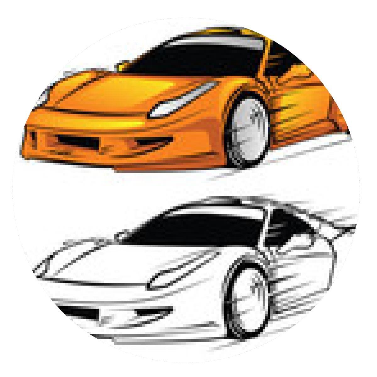alfombrilla de ratón libro para colorear personaje de dibujos animados del coche deportivo: Amazon.es: Electrónica