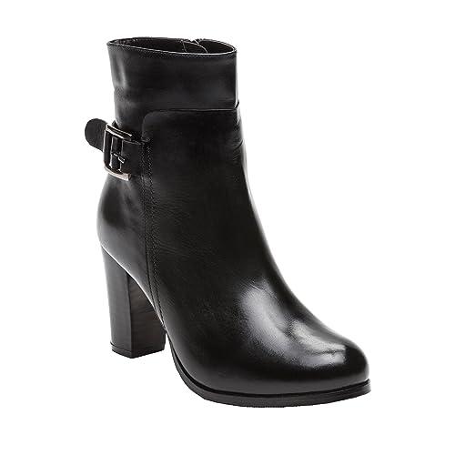 Zerimar Botines de Piel | Botines Mujer Tacon Medio | Botines Mujer Cuero | Botines Piel Tacon Mujer | Color: Negro | Talla: 41: Amazon.es: Zapatos y ...