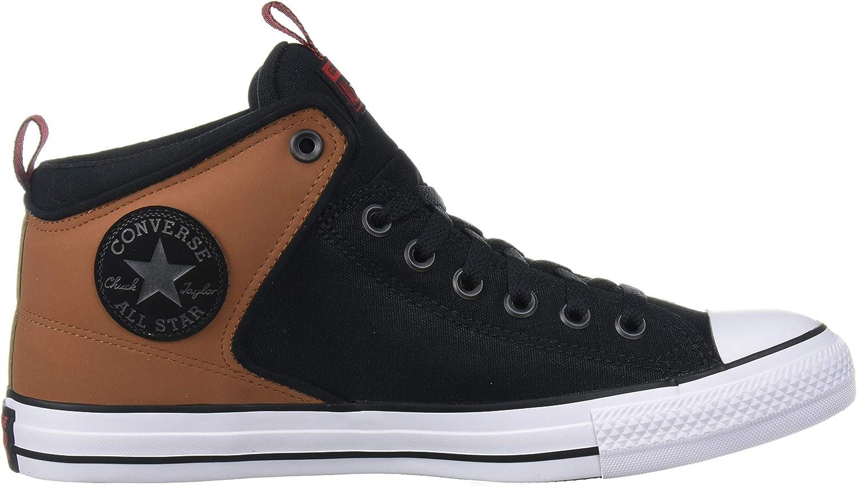 Converse Chuck Taylor all Star Street - Sneaker Alte in Pelle Scamosciata Tan Nero Bianco