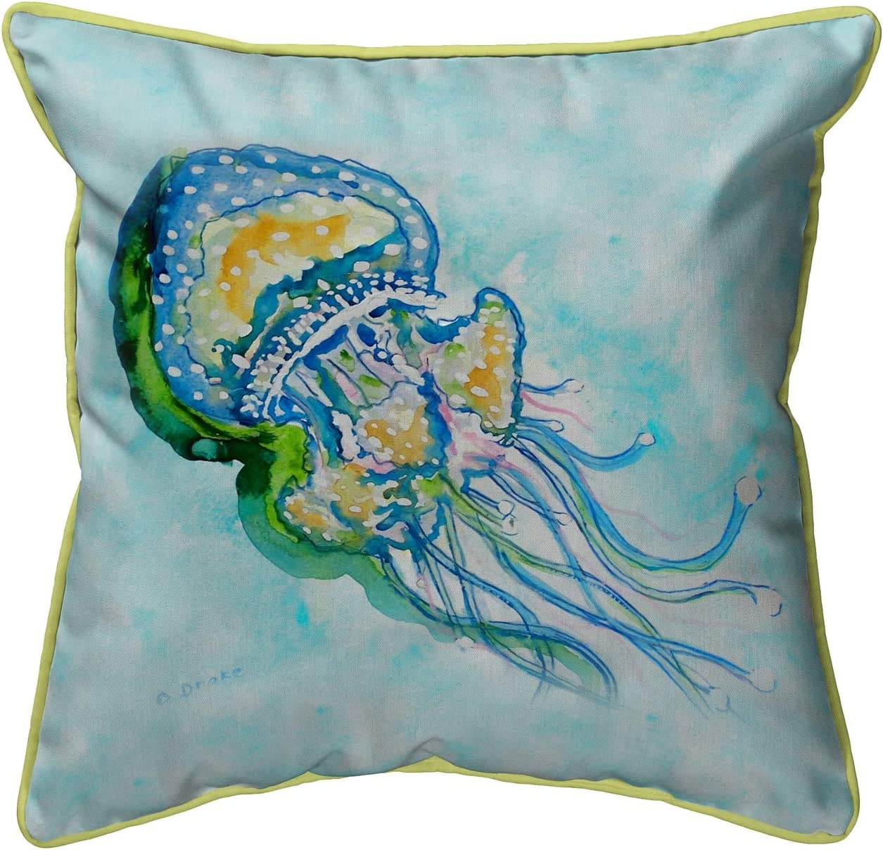 Amazon Com Betsy Drake Jellyfish Extra Large 22 X 22 Indoor Outdoor Pillow Garden Outdoor